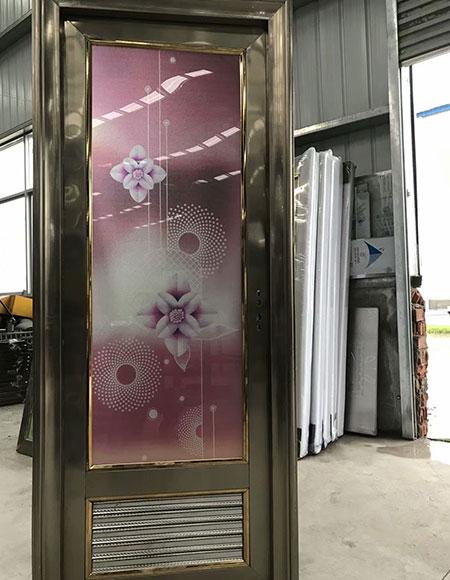 不锈钢带百叶卫生间门