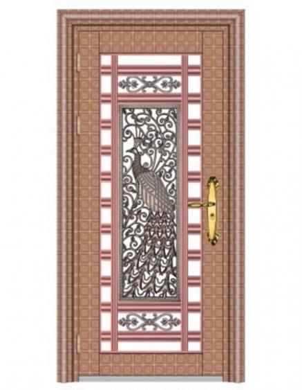 不锈钢外包边门设计