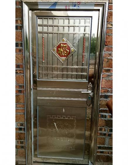 304不锈钢包边管门