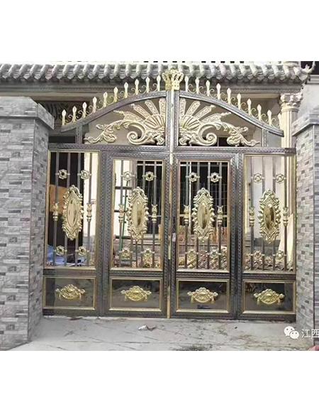 院子不锈钢彩板门