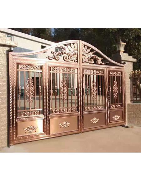 不锈钢庭院大门设计