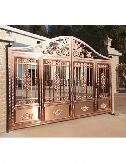 高安不锈钢庭院大门设计